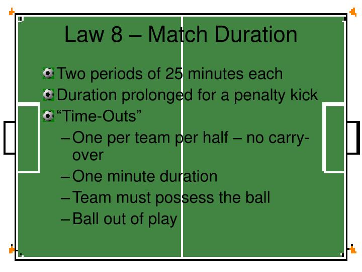 Law 8 – Match Duration