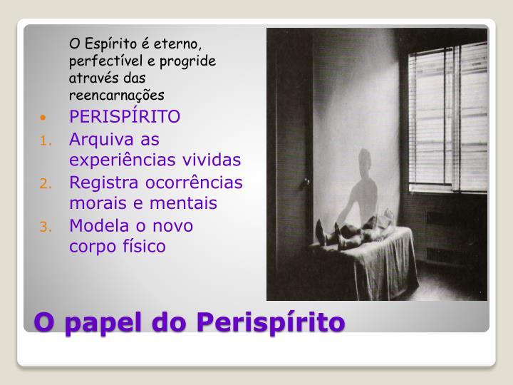 O Espírito é eterno, perfectível e progride através das   reencarnações