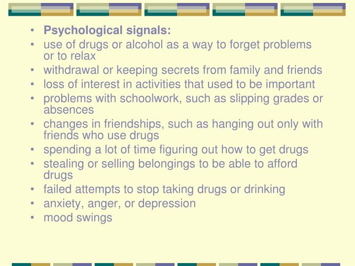 Psychological signals: