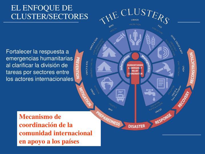 EL ENFOQUE DE CLUSTER/SECTORES