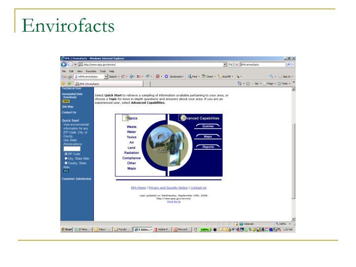 Envirofacts