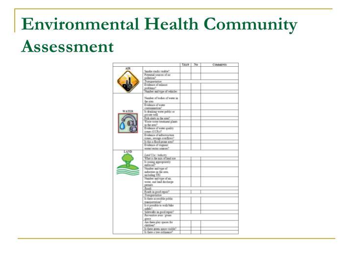 Environmental Health Community Assessment
