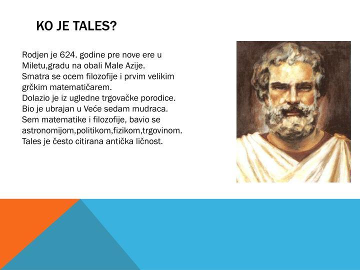 Ko je Tales?