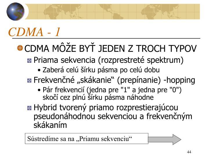 CDMA - 1