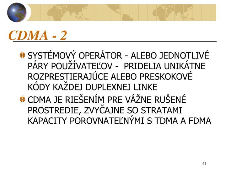 CDMA - 2