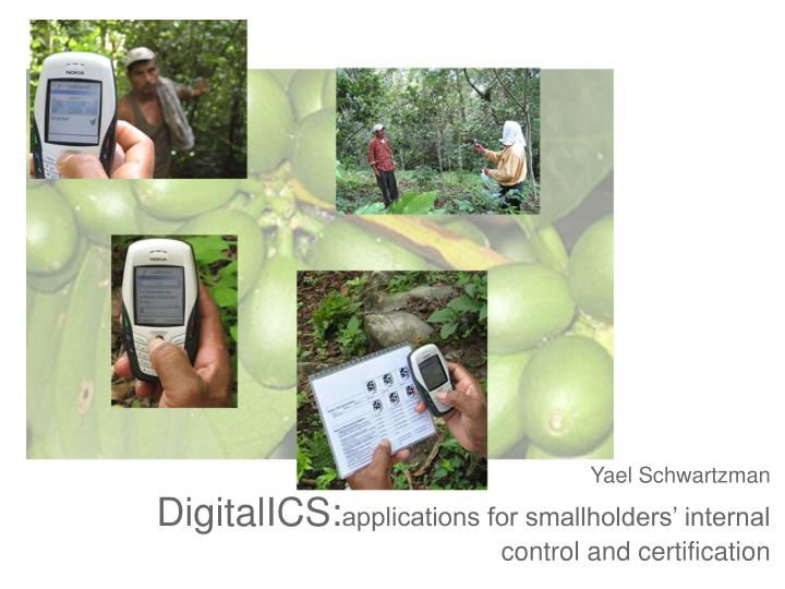Yael schwartzman digitalics applications for smallholders internal control and certification