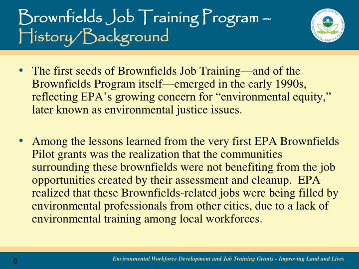 Brownfields Job Training Program –