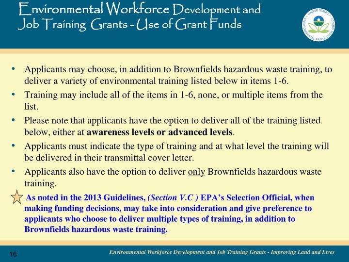 Environmental Workforce