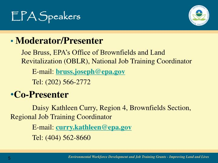 EPA Speakers