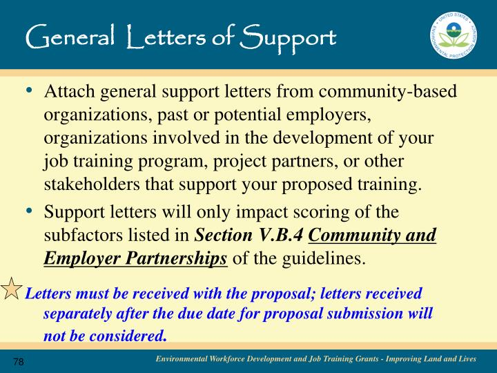General  Letters of Support