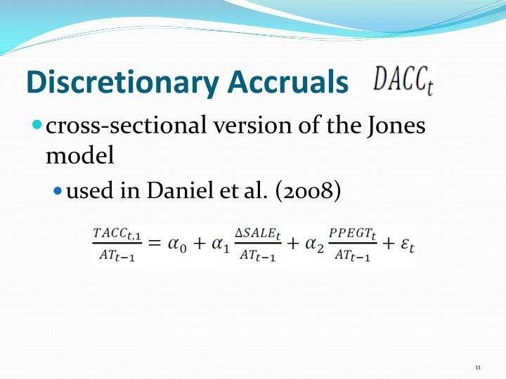 Discretionary Accruals