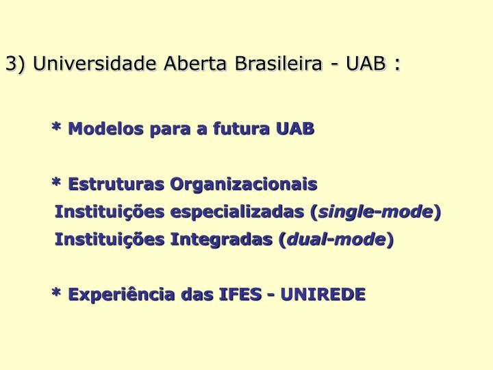 3) Universidade Aberta Brasileira - UAB