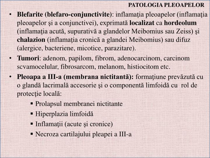 PATOLOGIA PLEOAPELOR