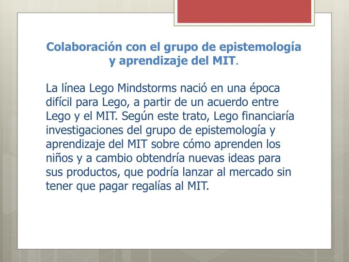 Colaboración con el grupo de epistemología y aprendizaje del