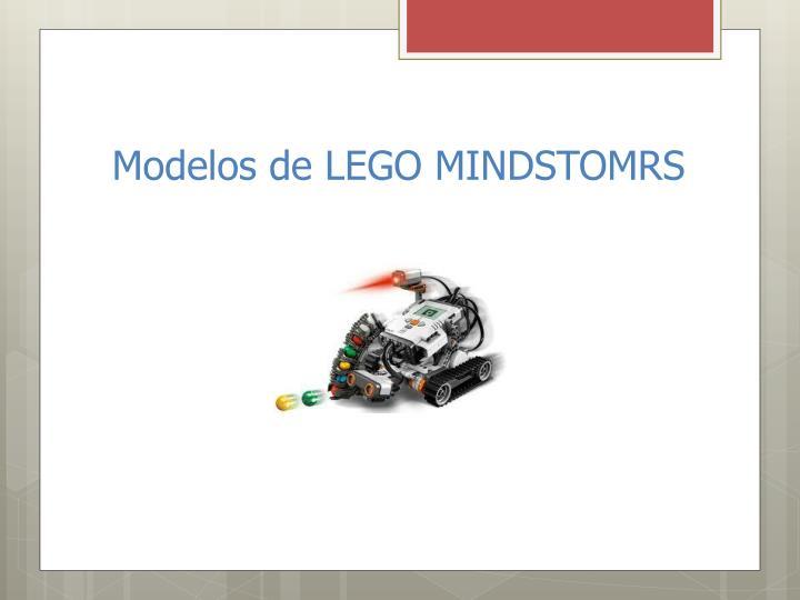 Modelos de LEGO MINDSTOMRS