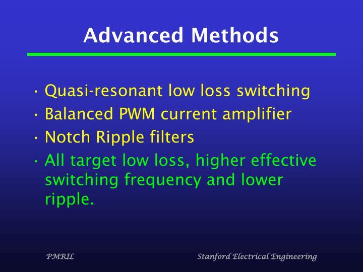 Advanced Methods