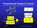 proportional integral control