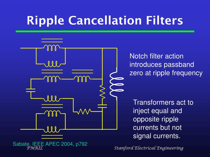 Ripple Cancellation Filters