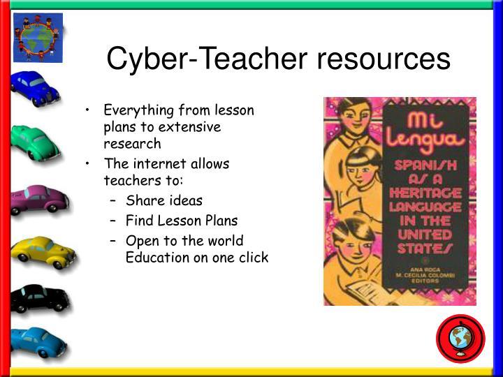 Cyber-Teacher resources