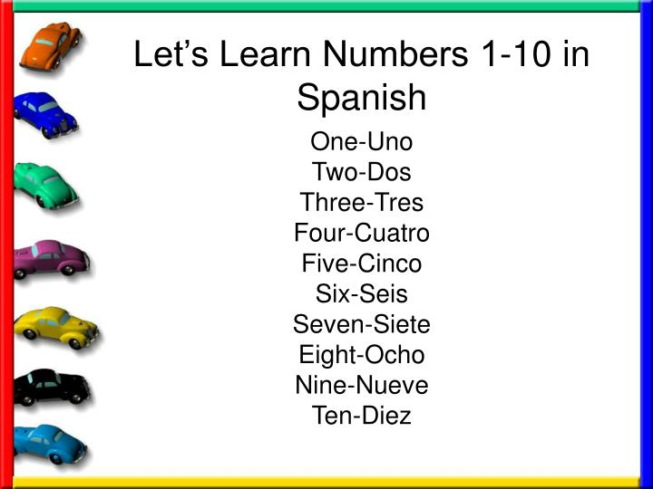 Let's Learn Numbers 1-10 in Spanish