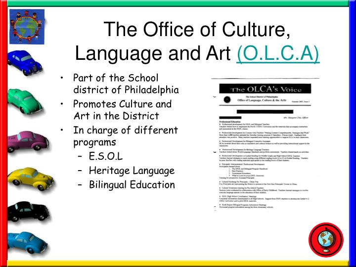 The office of culture language and art o l c a