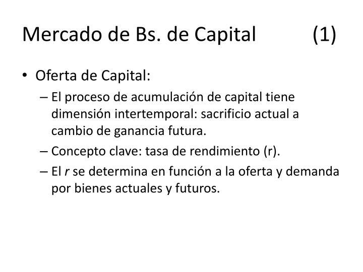 Mercado de Bs. de Capital(1)