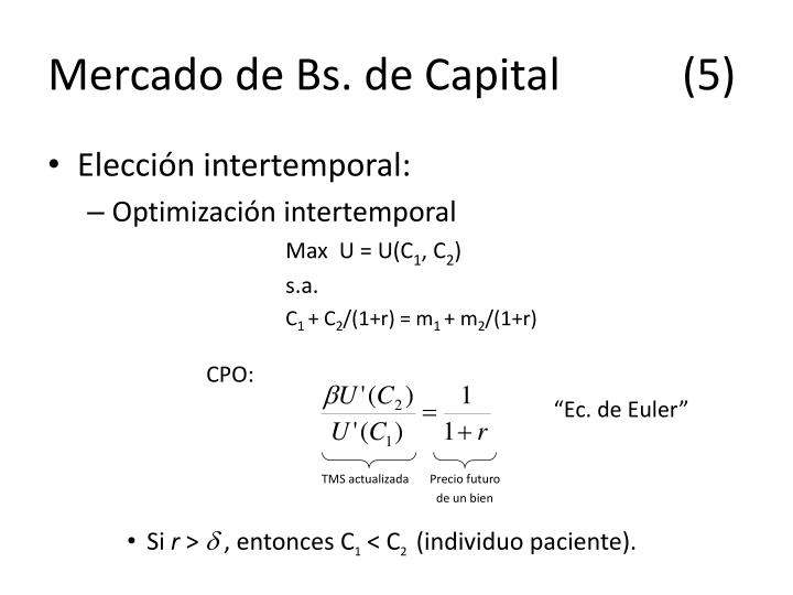 Mercado de Bs. de Capital(5)