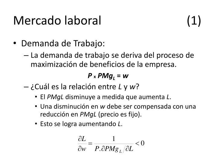 Mercado laboral(1)
