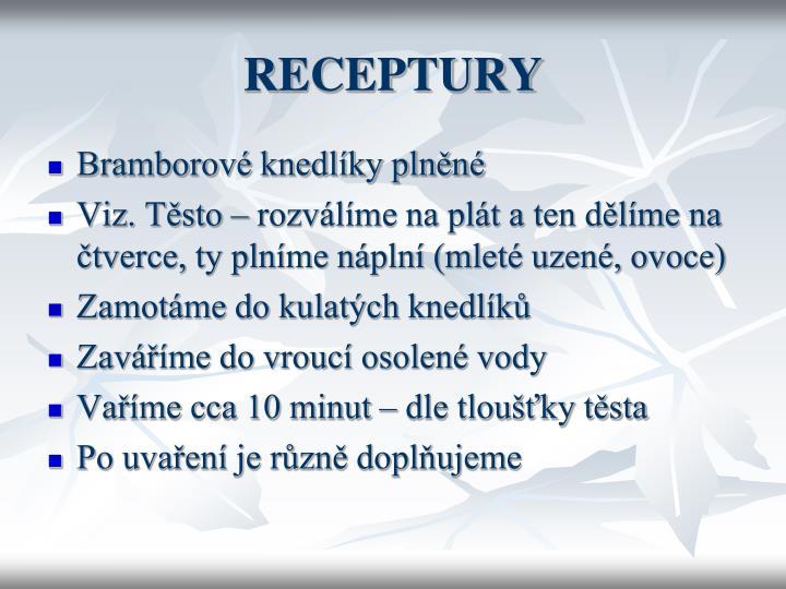 RECEPTURY