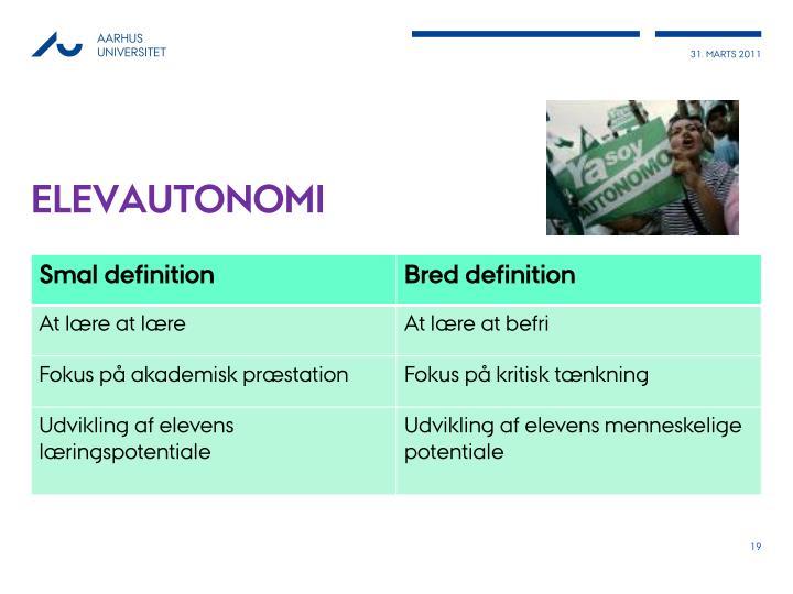 elevautonomi
