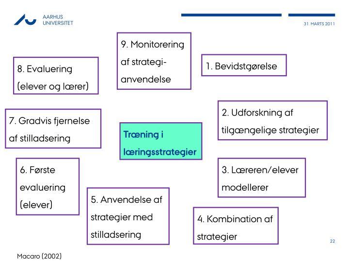 9. Monitorering af strategi-anvendelse