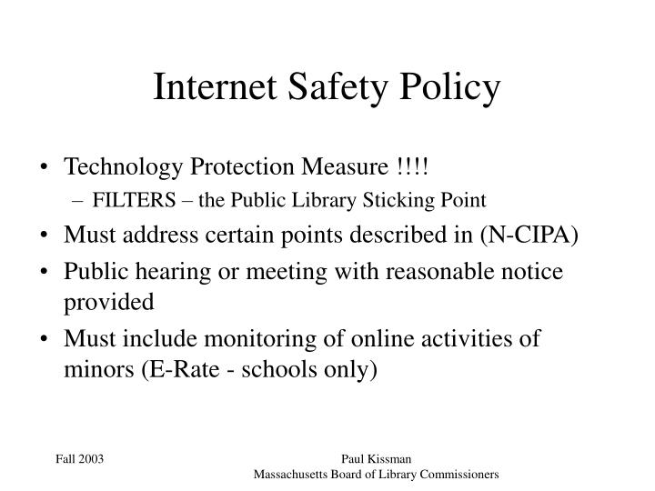 Internet Safety Policy