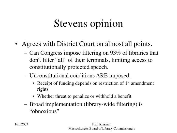 Stevens opinion