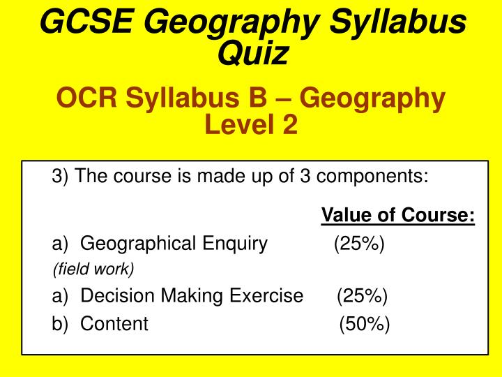 gcse geography ocr b coursework Students complete practice coursework based on the derbyshire visit ocr website: http://wwwocrorguk/qualifications/gcse-geography-b-j385-from-2012/ free.
