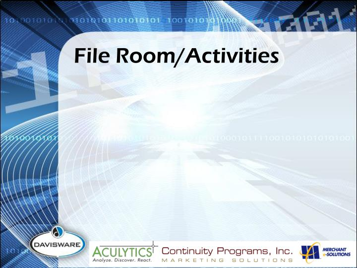 File Room/Activities