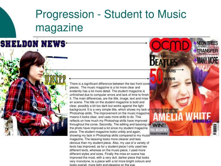 Progression - Student to Music magazine