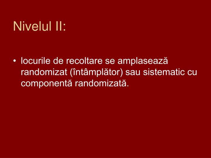 Nivelul II:
