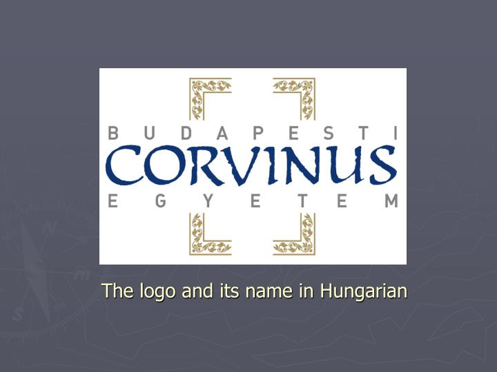 The logo and its name in Hungarian