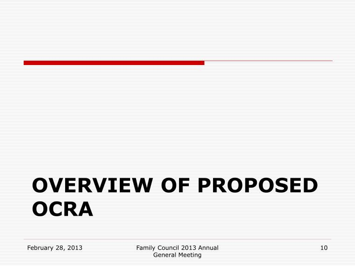 Overview of proposed OCRA