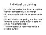 individual bargaining