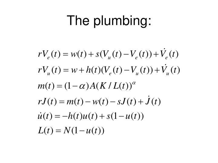 The plumbing: