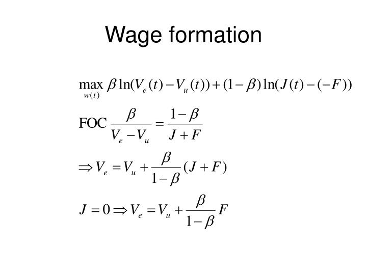 Wage formation