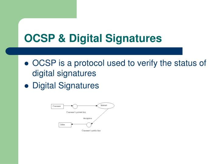 Ocsp digital signatures