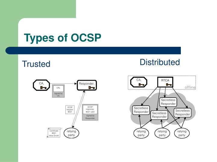 Types of OCSP