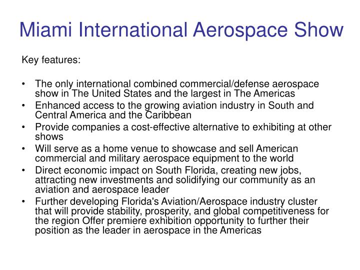 Miami International Aerospace Show
