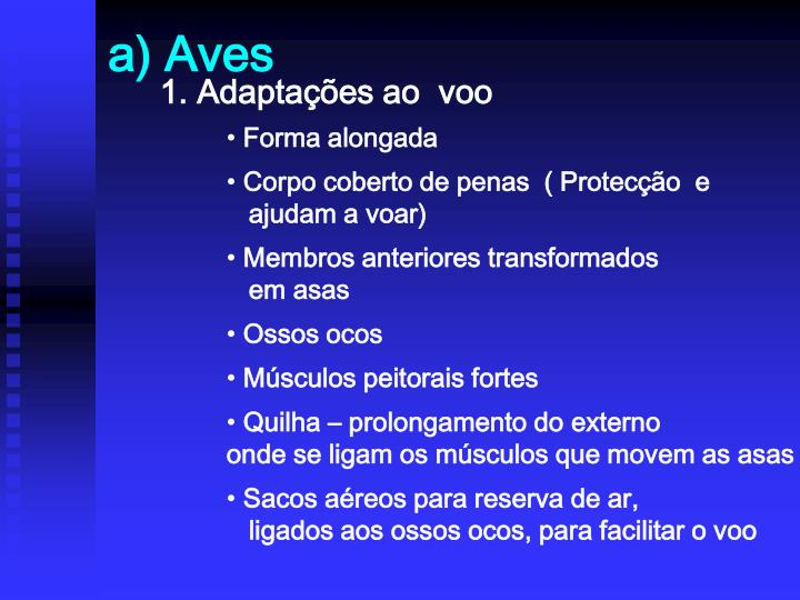 a) Aves