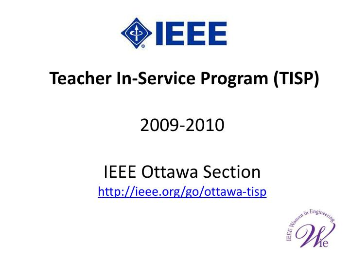 Teacher In-Service Program (TISP)