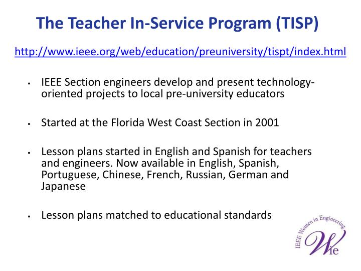 The Teacher In-Service Program (TISP)
