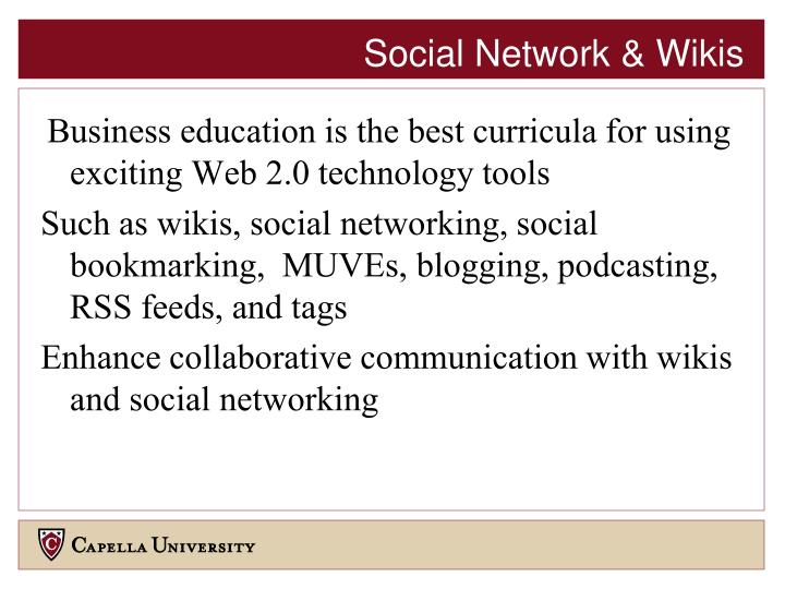Social Network & Wikis