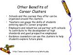 other benefits of career clusters